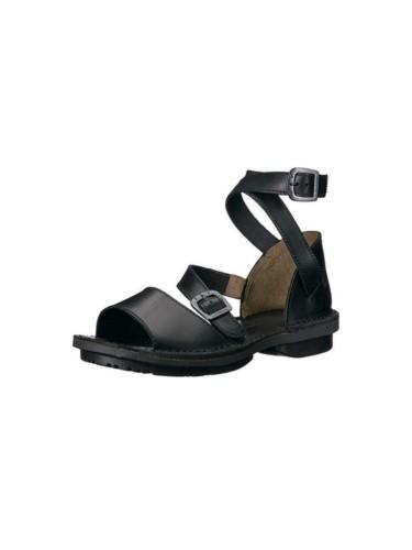 Fly London juodi odiniai sandalai