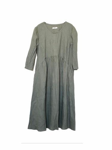 Lininė suknelė chaki